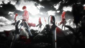 Shingeki no Kyojin: un'immagine tratta dall'anime