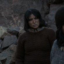 Las niñas Quispe: Digna Quispe, Francisca Gavilán e Catalina Saavedra in una scena del film