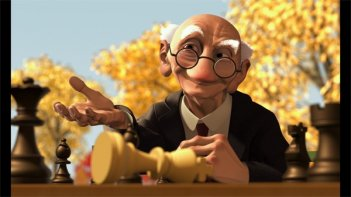 Il gioco di Geri: una scena del corto Pixar