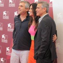 Venezia 2013: Alfonso Cuaron con Sandra Bullock e George Clooney presentano Gravity