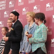 Mira Barkhammar con Lukas Moodysson, Liv LeMoyne, Mira Grosin e Lily Moodysson a Venezia con We Are the Best!