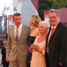 Philomena: Stephen Frears con Judi Dench, Steve Coogan e Sophie Kennedy Clark presentano il film a Venezia, sul red carpet