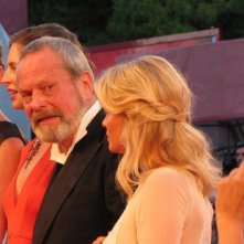 Melanie Thierry con Terry Gilliam  a Venezia 2013 con The Zero Theorem - immagine dal red carpet