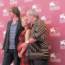 Melanie Thierry con Terry Gilliam  e David Thewlis per presentare The Zero Theorem alla Mostra di Venezia 2013