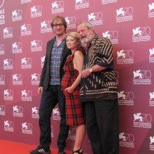 Melanie Thierry tra Terry Gilliam  e David Thewlis per presentare The Zero Theorem alla Mostra di Venezia nel 2013
