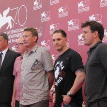 Venezia 2013 - Tom Hardy e Steven Knight presentano 'Locke' alla Mostra del Cinema con Guy Heeley e Paul Webster