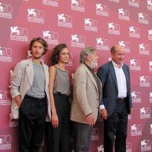 Mostra di Venezia 2013 - Antonio Albanese e Gianni Amelio presentano L'intrepido accanto a Livia Rossi e Gabriele Rendina