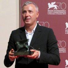 Venezia 2013 - Robin Campillo con il premio Orizzonti vinto per il suo Eastern Boys