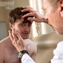 Daniel Radcliffe in un'immagine di Horns pubblicata da Entertainment Weekly