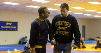 Foxcatcher: Steve Carell e Channing Tatum in una scena del film
