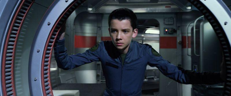Ender's Game: Asa Butterfield in una scena del film