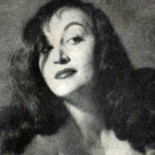 Un ritratto in bianco e nero di Olimpia Cavalli, attrice