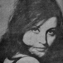 Una foto in bianco e nero di Olimpia Cavalli, attrice