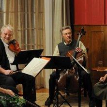 Una fragile armonia: Mark Ivanir, Philip Seymour Hoffman, Christopher Walken e Catherine Keener in una scena