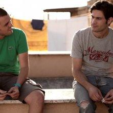 Valerio Di Benedetto e Cristian Di Sante in una scena di Spaghetti Story