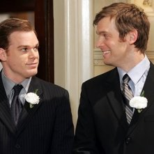 Peter Krause e Michael C. Hall in Six Feet Under