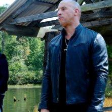 Fast & Furious 7: Vin Diesel e Paul Walker sul fiume