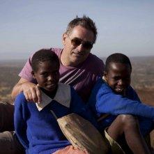 On the Way to School: il regista Pascal Plisson sul set con due giovani protagonisti