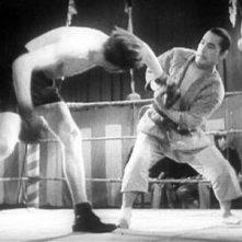 Un'immagine del film Sugata Sanshiro