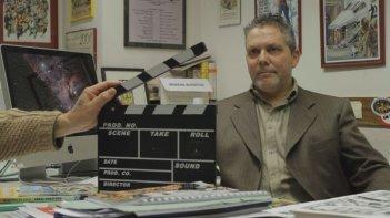 Noi, Zagor: Moreno Burattini, curatore di Zagor, in una scena del film