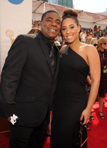 Emmy 2013: Tracy Morgan e Megan Wollover sul tappeto rosso della 65ma edizione