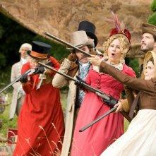 Austenland: Keri Russell con Georgia King e Jennifer Coolidge in una scena