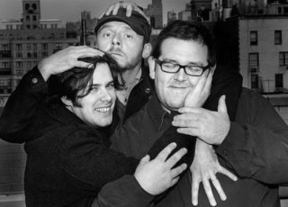 Gli amiconi Simon Pegg, Edgar Wright e Nick Frost