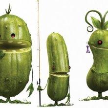 I cetriolini sono tra i personaggi di Piovono polpette 2