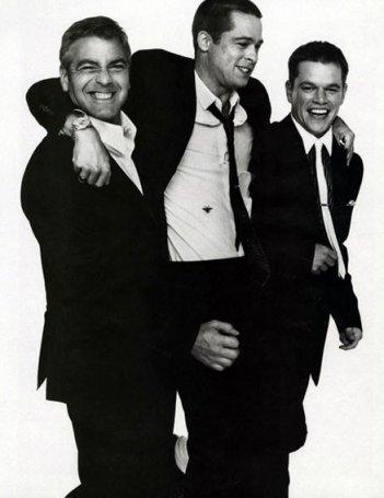 Il 'nuovo Rat Pack': George Clooney, Brad Pitt e Matt Damon