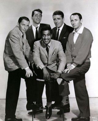 Il Rat Pack: Frank Sinatra, Dean Martin, Sammy Davis jr., Joey Bishop e Peter Lawford