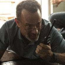 Captain Phillips: Tom Hanks in azione in una scena del film