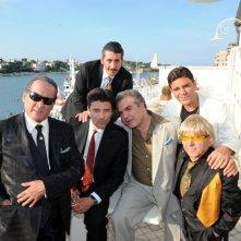 Il cast del film Il ragioniere della mafia sul set