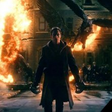 Aaron Eckhart in un'immagine promozionale di I, Frankenstein