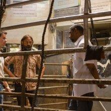 Cani sciolti: Denzel Washington con Mark Ahlberg ed il regista Baltasar Kormákur sul set