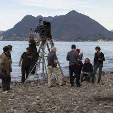 La sapienza: il regista Eugène Green sul set a Stresa