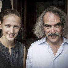 La sapienza: la protagonista Arianna Nastro con il regista Eugène Green in una foto promozionale