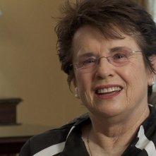 Venus and Serena: l'ex tennista americana Billie Jean King in una scena del documentario