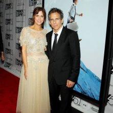 Ben Stiller insieme a Kristen Wiig al New York Film Festival sul red carpet de I sogni segreti di Walter Mitty