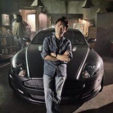 Fast & Furious 7: il regista James Wan davanti all'auto del villain del film