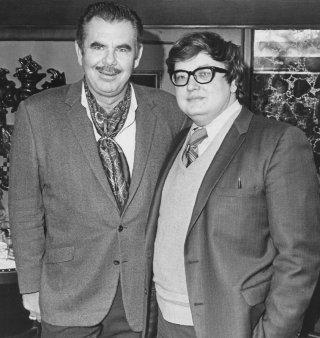 Russ Meyer con il critico Roger Ebert