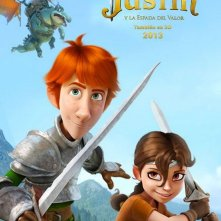 Justin and the Knights of Valour: la locandina spagnola