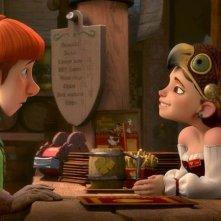 Justin e i cavalieri valorosi: il valoroso Justin con la sua amica Talia in una scena del film animato