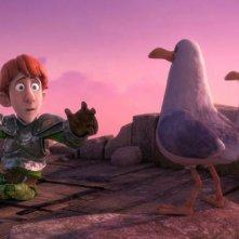 Justin e i cavalieri valorosi: il valoroso Justin in una scena del film animato