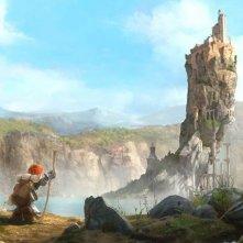 Justin e i cavalieri valorosi: Justin in mezzo alla natura in una scena del film animato