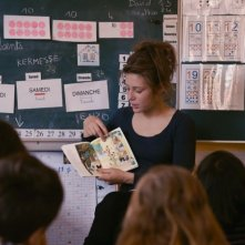 La vita di Adele: la co-protagonista del film Adèle Exarchopoulos in una scena