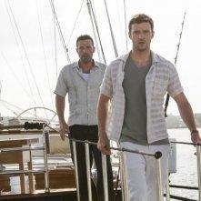 Runner Runner: Ben Affleck insieme a Justin Timberlake in una scena del thriller
