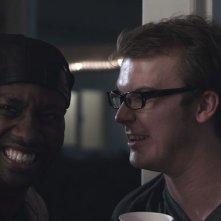 Smiley: Steve Greene in una scena del film con DeStorm Power