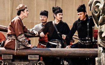 Young Detective Dee: Rise of the Sea Dragon 3D, Mark Chao e Kun Chen in una scena del film