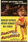 Rancho Notorius: la locandina del film