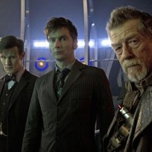 Doctor Who: Matt Smith, David Tennant e John Hurt nell'episodio speciale The Day of the Doctor